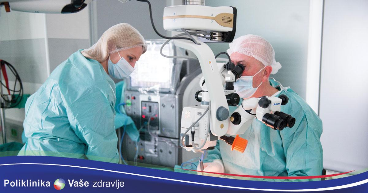 rađena prva operacija katarakte oka