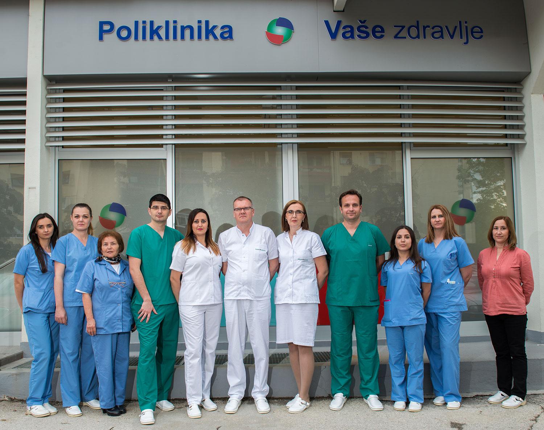 Poliklinika Vaše zdravlje doktori ispred poliklinike